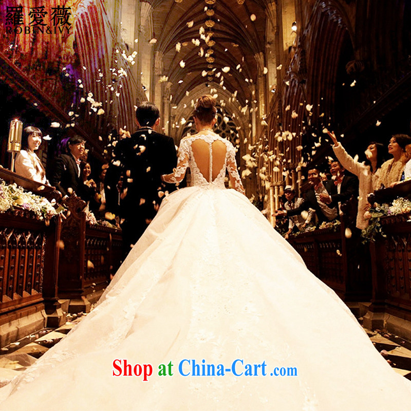 Love, Ms Audrey EU Yuet-mee, RobinIvy) wedding dresses custom 2015 new heart back exposed the tail Kun Ling with wedding H 35,096 white advanced customization