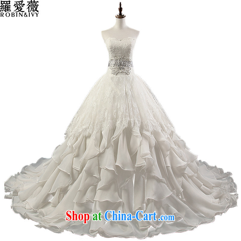 Love, Ms Audrey EU Yuet-mee, RobinIvy) wedding dresses new 2015 spring and summer, bare chest diamond skirt with large code bridal wedding H 35,155 white advanced customization