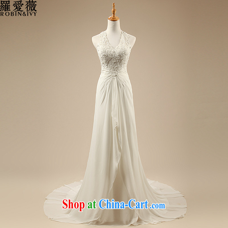 Love, Ms Audrey EU Yuet-mee, RobinIvy) wedding dresses custom New 2015 Korean double-shoulder-mounted also tail bridal wedding H 33,541 white advanced customization