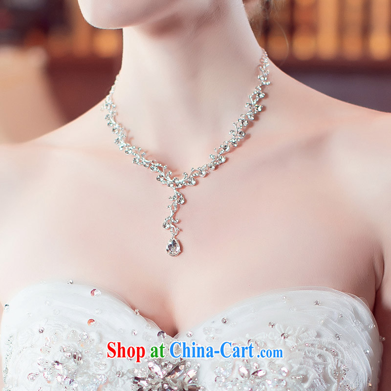 The bride's wedding dresses accessories necklace matching earrings luxury drill 102 pre-sale 7 days