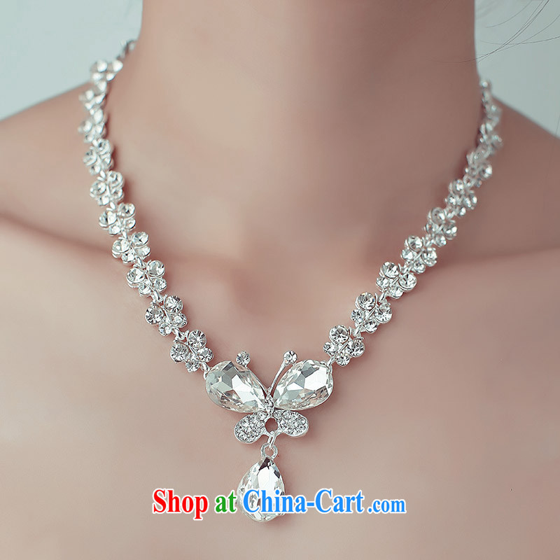 The bride's wedding dresses new 2015 bridal accessories necklaces earrings luxury drill 103