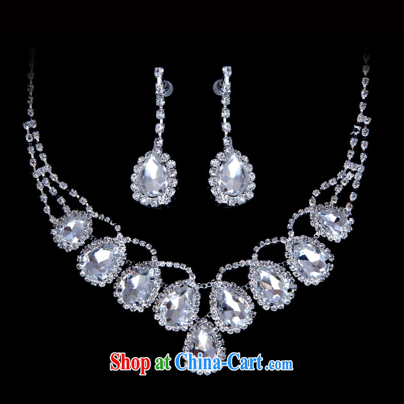 The bride's wedding dresses 2015 spring bridal necklace earrings bridal accessories 115