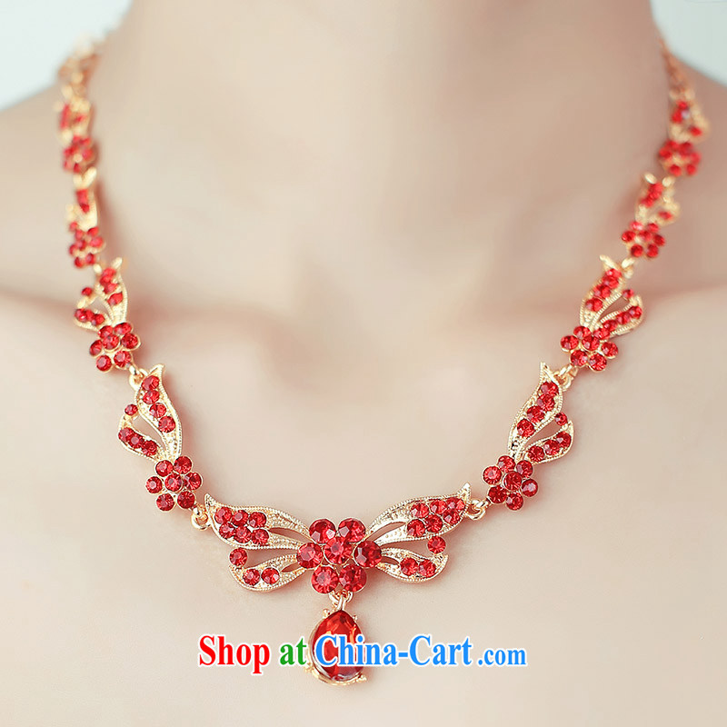 The bride's wedding dresses 2015 spring bridal necklace red/white 111 red