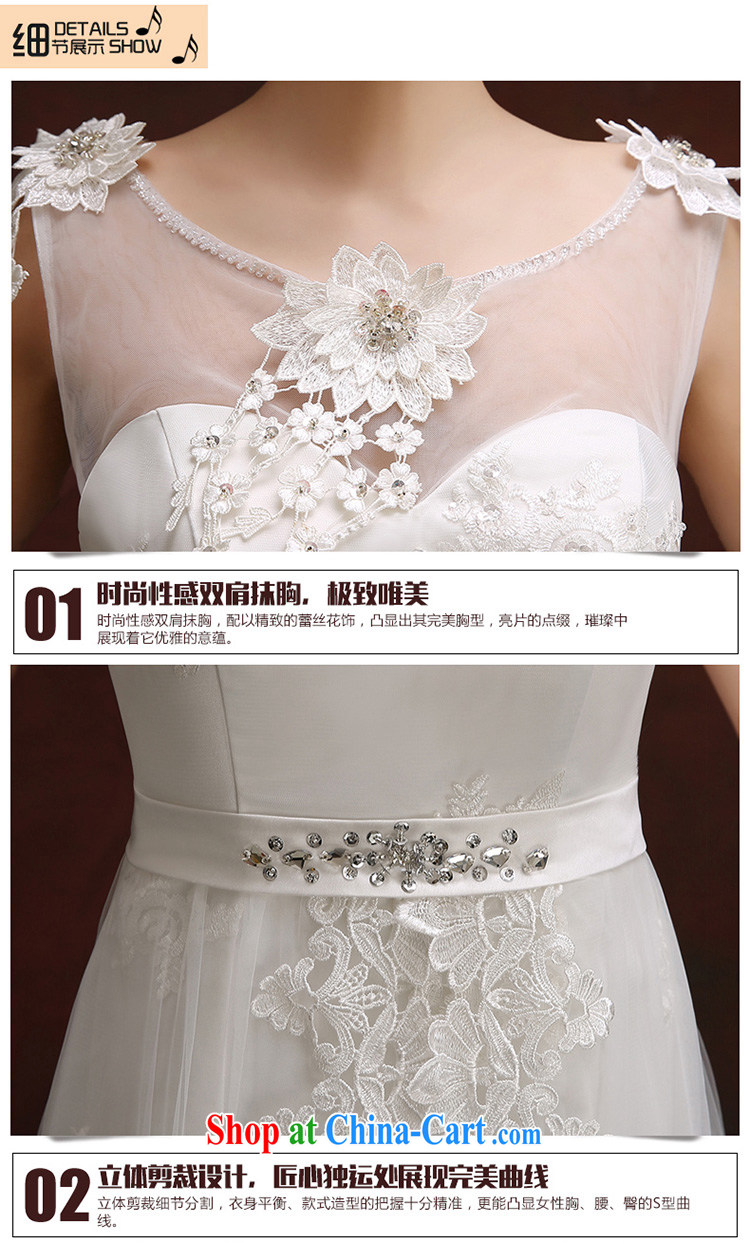 Wedding dress white crowsfoot wedding dresses summer 2015 new Korean version a bare shoulders chest lace inserts drill cultivating tail wedding white Custom Size 5-Day Shipment pictures, price, brand platters! Elections are good character, the national distribution, so why buy now enjoy more preferential! Health