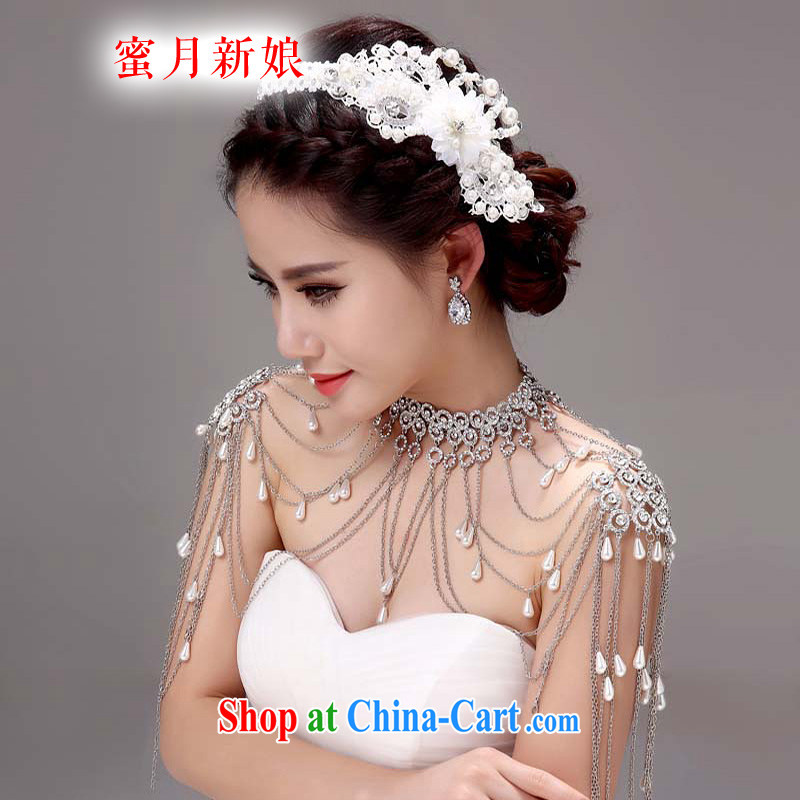 Honeymoon bridal bridal shoulder link Korean-style wedding jewelry wedding gifts wedding jewelry white