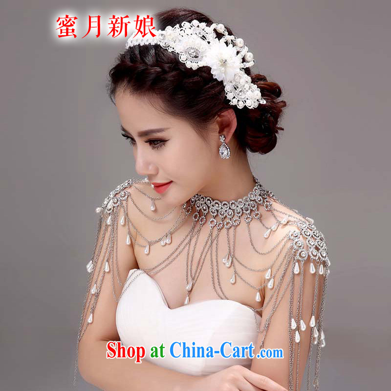 Honeymoon bridal bridal shoulder link Korean-style wedding jewelry Wedding Fashion Accessories wedding jewelry white
