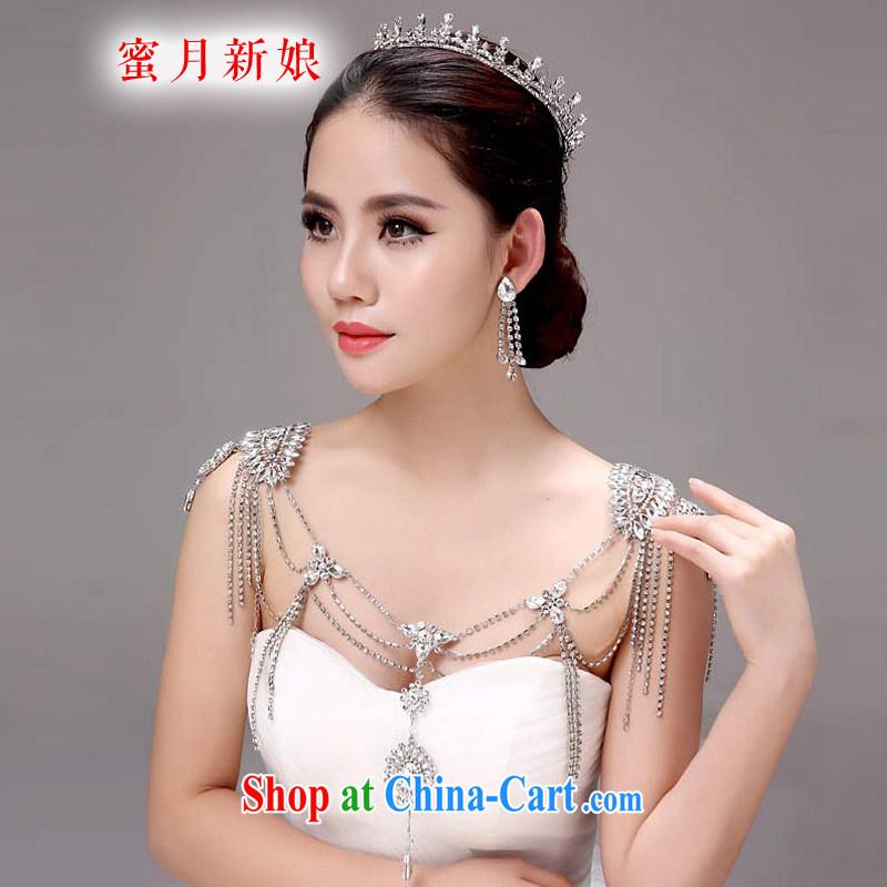 Honeymoon bridal bridal shoulder link Korean-style wedding jewelry Wedding Fashion Accessories wedding jewelry white