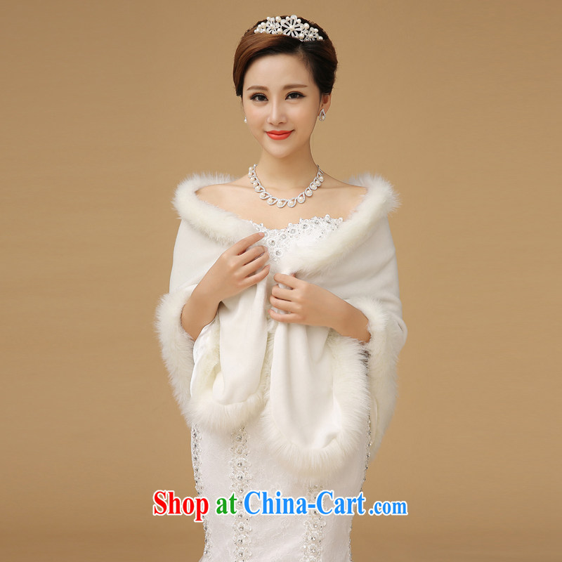 Modern white bridal wedding shawl white are code