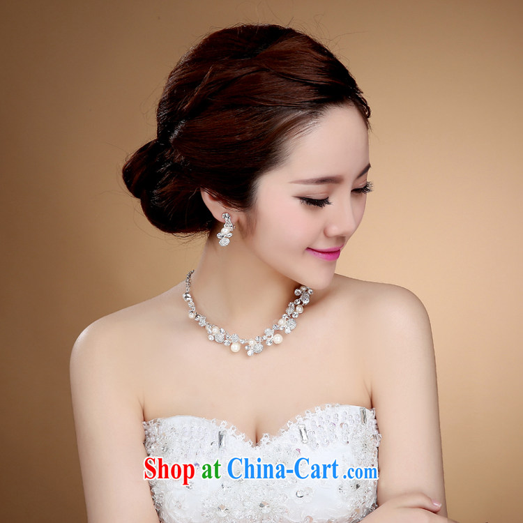 Bridal jewelry Korean-style necklace earrings wedding hair accessories kit wedding accessories jewelry jewelry white pictures, price, brand platters! Elections are good character, the national distribution, so why buy now enjoy more preferential! Health