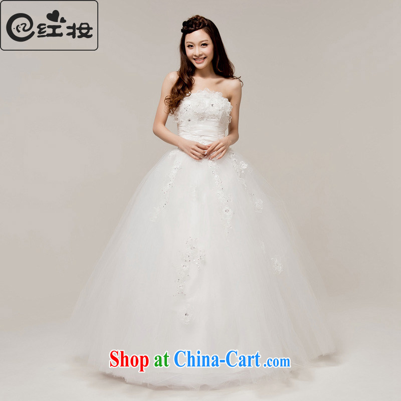 Recall that the red makeup wedding dresses new 2015 spring and summer Korean Style Fashion erase chest bridal simple beauty with wedding H 12,094 white XL
