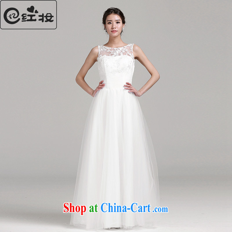 Recall that the red makeup 2015 spring and summer new wedding dresses Korean-style field shoulder lace stylish simplicity with wedding H 14,759 white XL