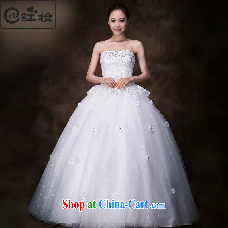 Recall that the red makeup 2015 spring and summer new erase chest Wedding Fashion Korean chest wiped shaggy skirts simplicity with wedding H 13,751 white XL