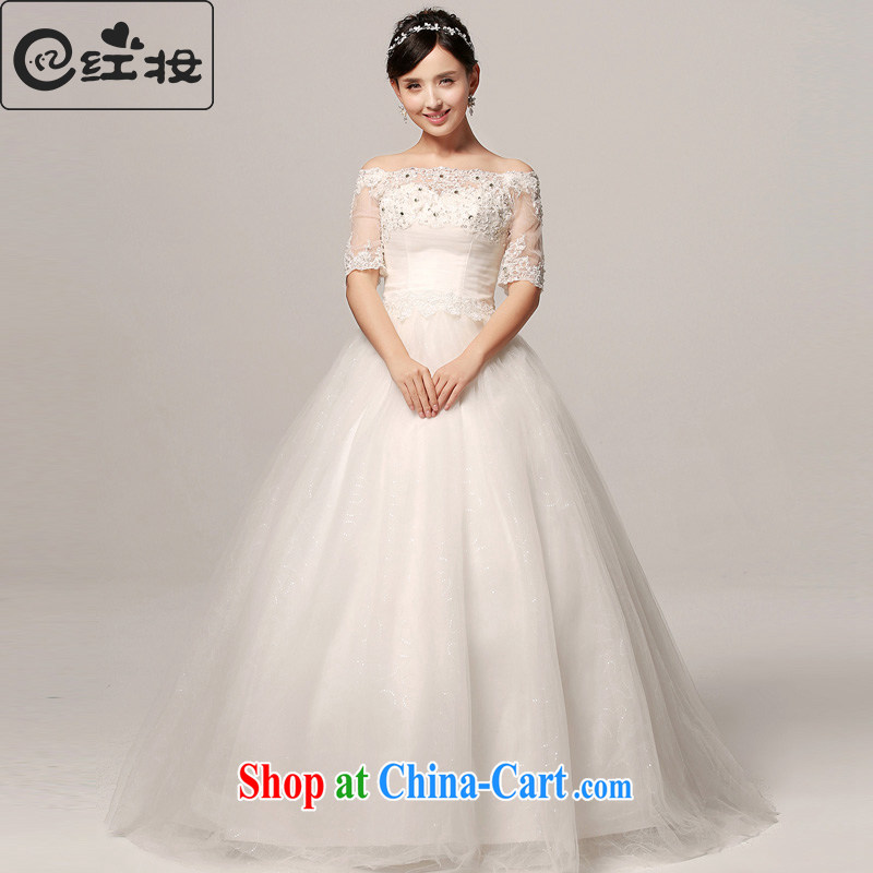 Recall that the red makeup wedding dresses 2015 spring and summer new brides field shoulder simple lace cuff, with wedding H 13,776 white XL