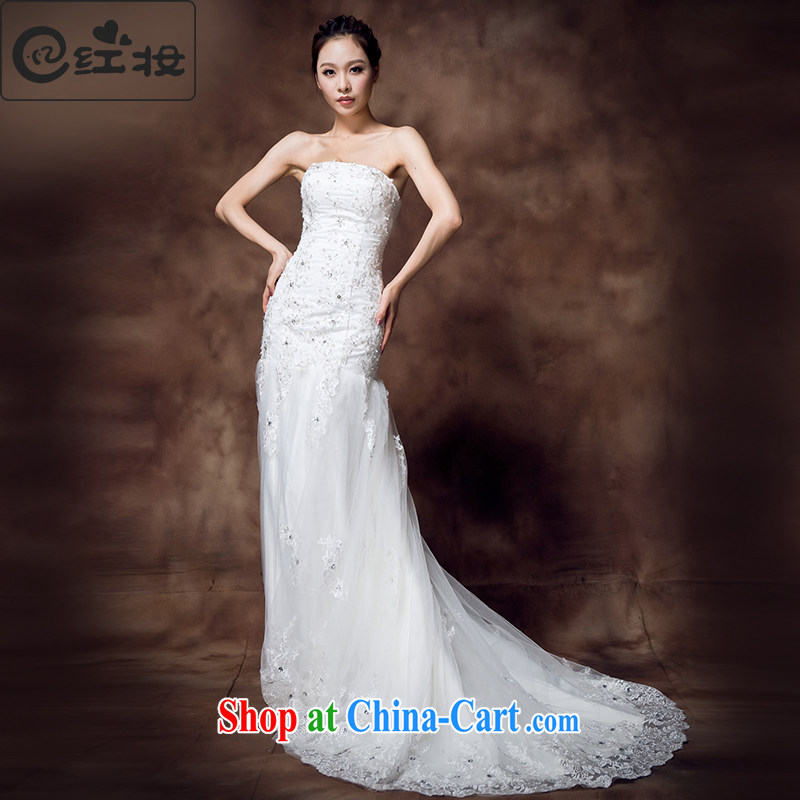 Recall that the red makeup Beauty Fashion spring and summer shadow floor wipe theme chest crowsfoot small tail wedding dresses 2015 new H 12,132 white XL