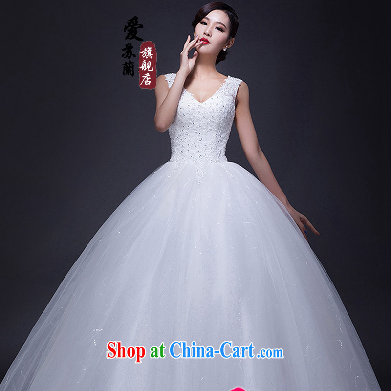 High quality double-shoulder bridal wedding new popular wedding dresses exclusive new wedding 2015 new wedding white XXL
