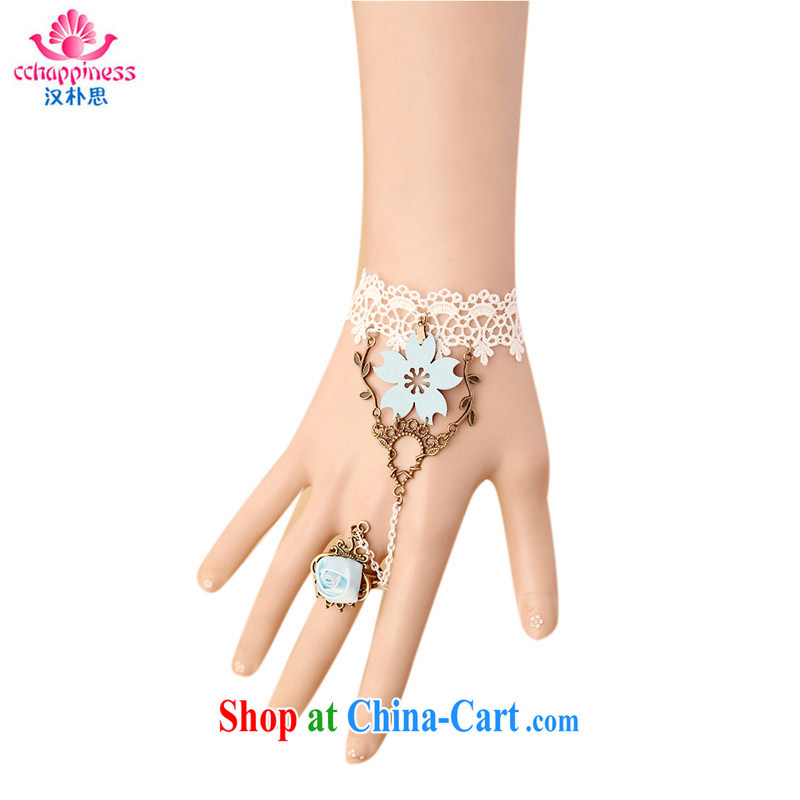 Han Park _cchappiness_ Europe jewelry upscale sophisticated lace bracelet Ring Set jewelry