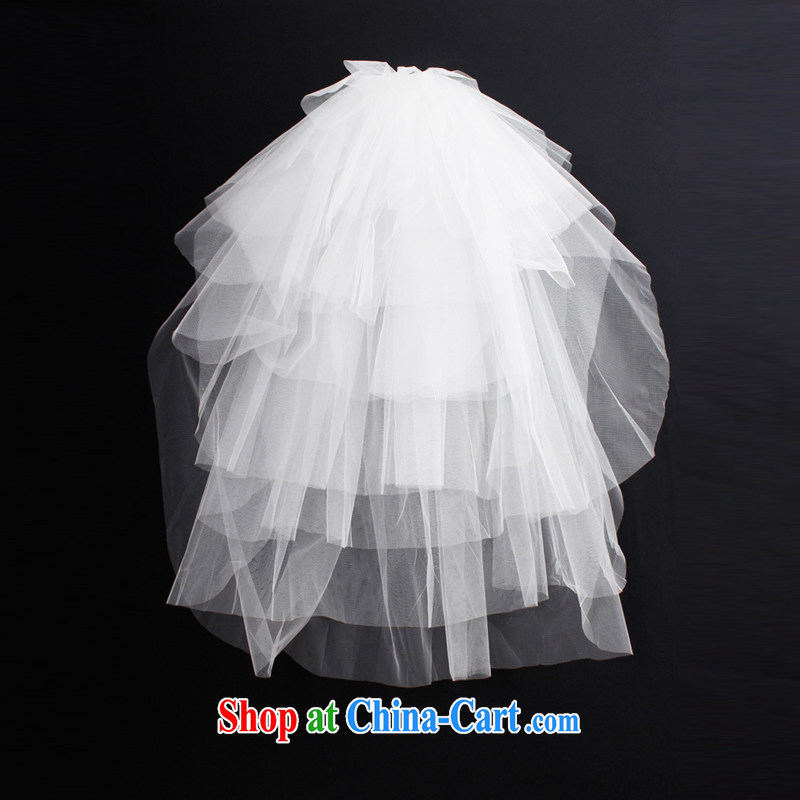 DressilyMe perfect simple 8 layer soft Web bridal wedding and legal - ivory - 85 cm - 5 day shipping