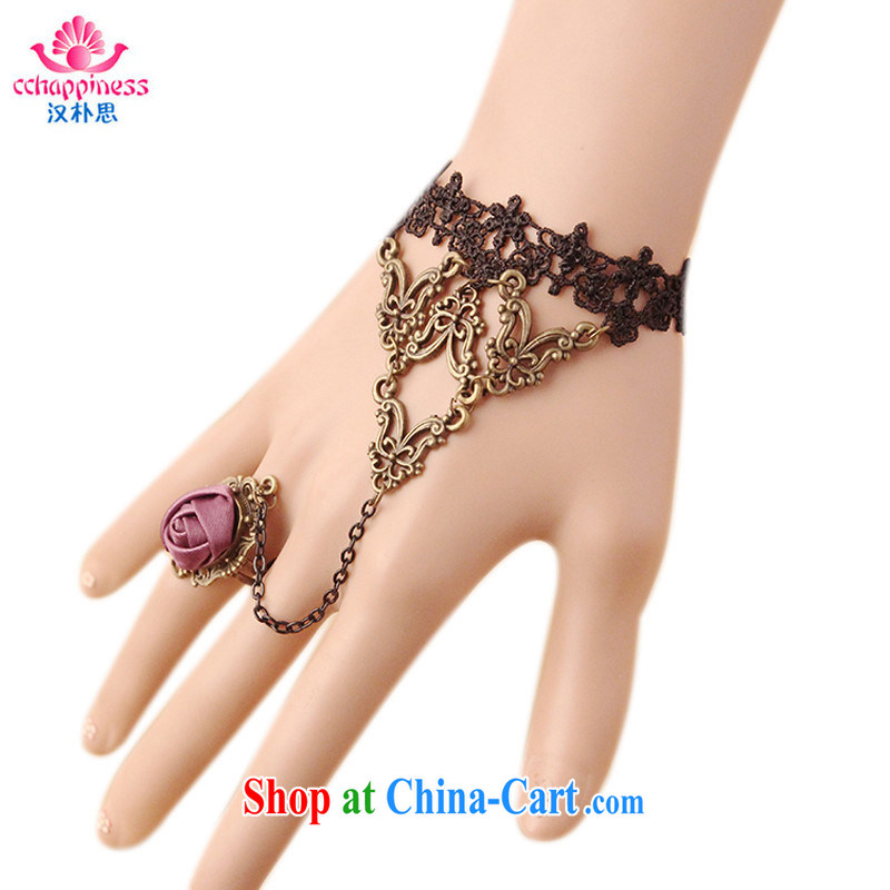 Han Park _cchappiness_ animated witch tribal black lace roses girls Hand chain rings