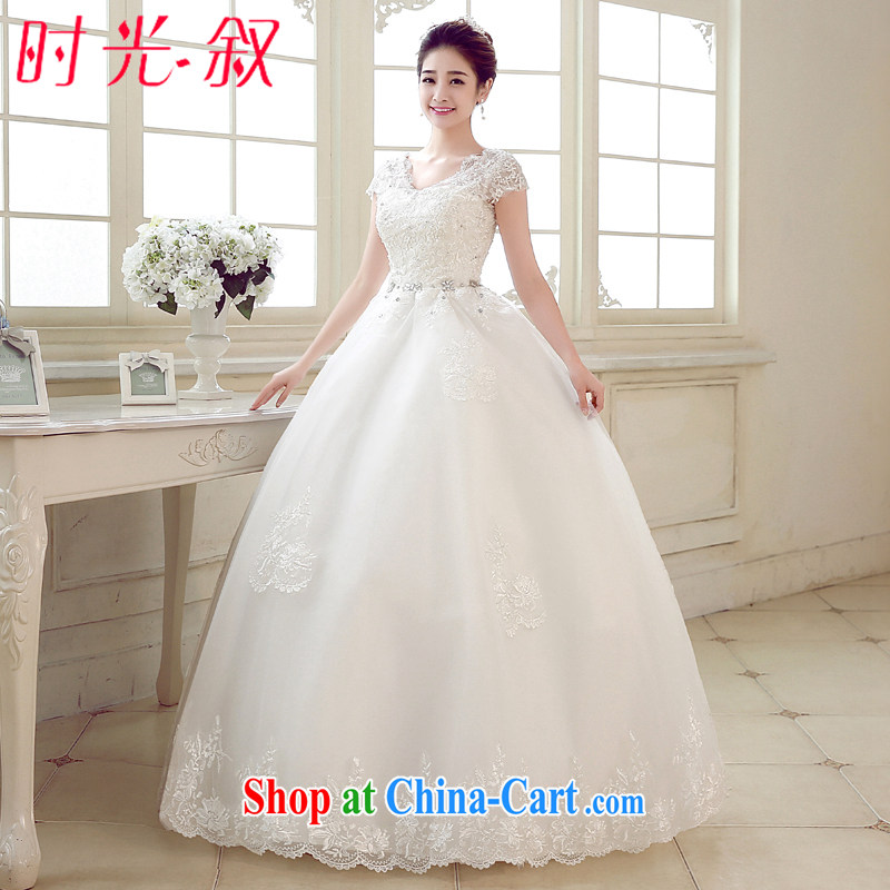 Time his pregnant women wedding dresses high-waist new 2015 spring and summer brides and align the code shoulders thick mm video thin, Japan, and South Korea wedding white L