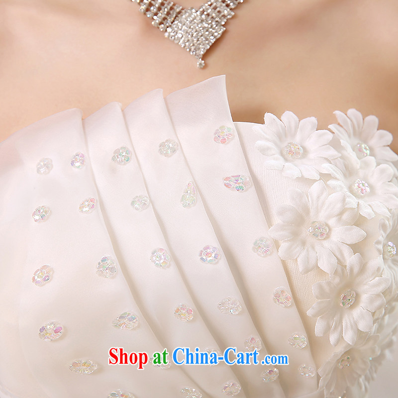 Rain is still Yi 2015 new wedding dress white Princess Mary Magdalene chest stylish graphics thin large code staples Pearl flowers with bridal wedding HS 890 white tailored, rain is clothing, and shopping on the Internet