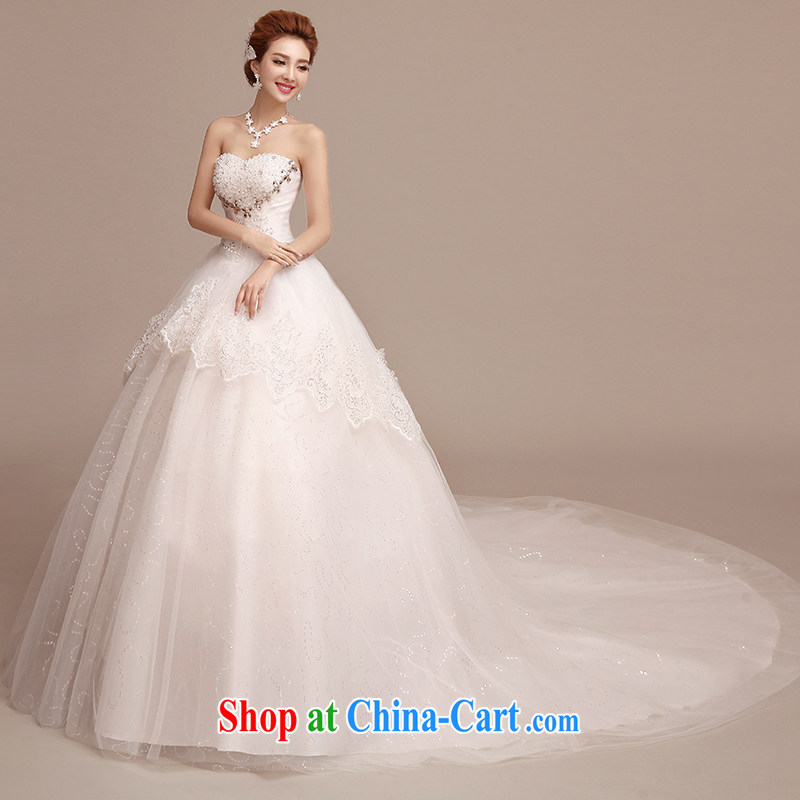 wedding dresses new 2015 simple and stylish long-tail wiped his chest in the Code graphics thin bridal wedding dresses spring and summer to align paragraph