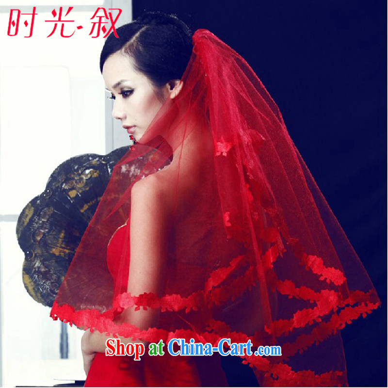 Time his wedding new Korean marriages and yarn lace lace and yarn single layer white and red yarn and yarn red are code