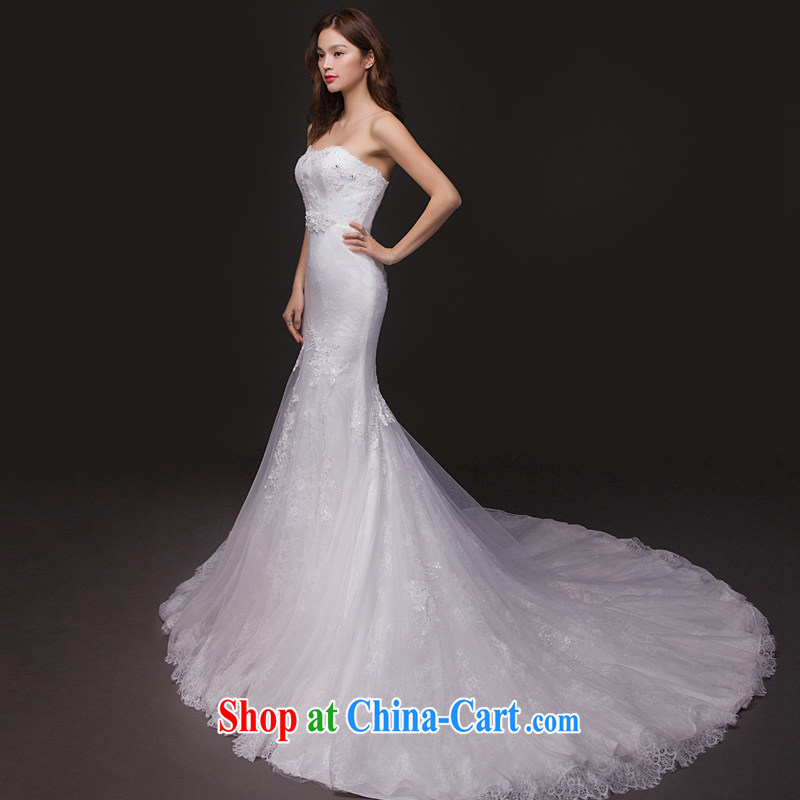 The Short Long Crowsfoot Wedding Small Tail Erase Chest Lace Dresses For Tall Thin Bridal Style White Xl