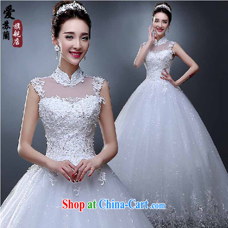 Wedding spring 2015 new stylish Korean version, for package shoulder wedding dresses summer beauty graphics thin straps with lace white. size does not return does not switch