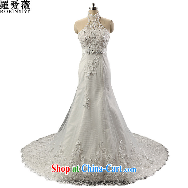 Love, Ms Audrey EU Yuet-mee, RobinIvy), Japan, and the Republic of Korea wedding dresses 2015 spring and summer new mount also diamond tail marriages H 14,727 white XL