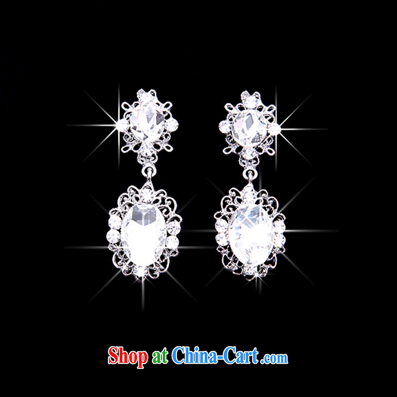 Rain is still clothing bridal style wedding jewelry set Korean hair accessories water drill with high quality wedding dress necklace earrings Crown wedding gift sets XL 022+ HG 15 water drilling 4 piece kit, rain is clothing, and shopping on the Internet