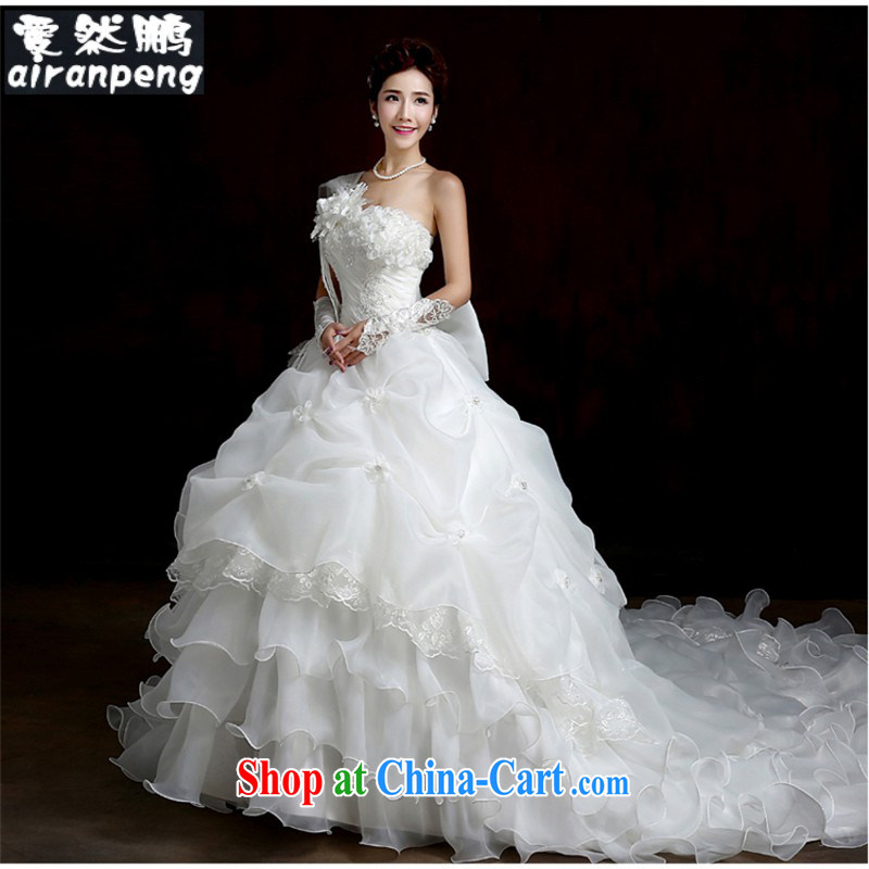 Korean-style single shoulder to align the code thick MM graphics thin-tail like a princess as a married high-end wedding custom 2015 customers to size the Do not be returned.