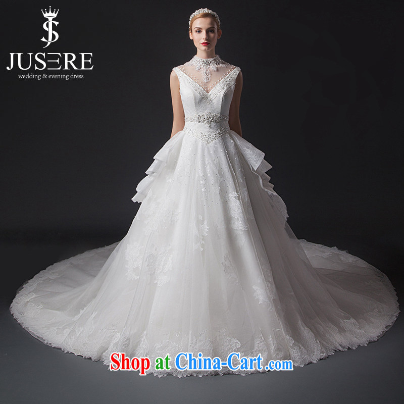 It is not the JUSERE high-end wedding dresses spring 2015 new V for wedding, Japan, and South Korea wedding bridal wedding dress tail wedding white tailored