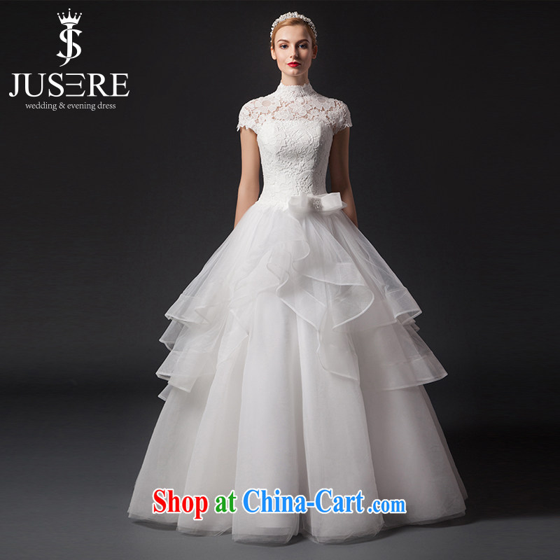 It is not the JUSERE high-end wedding dresses, Japan, and South Korea wedding marriages with dress pure white European wind lace shaggy dress white tailored