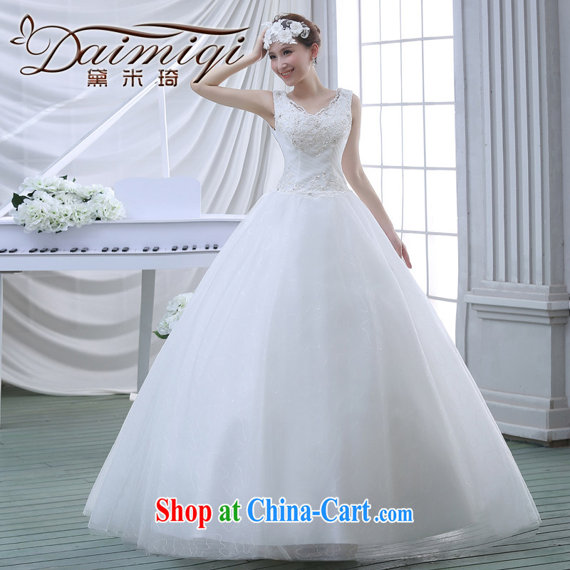 wedding dresses 2015 spring new lace shoulders Diamond Deluxe with wedding white M
