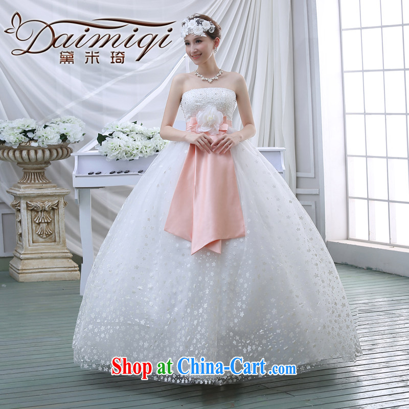 New 2015 spring video thin with wedding dresses retro lace bare chest strap V spring white wedding white M