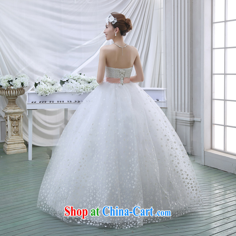 New 2015 spring video thin with wedding dresses retro lace bare chest strap V spring white wedding white M, Diane M Ki, shopping on the Internet