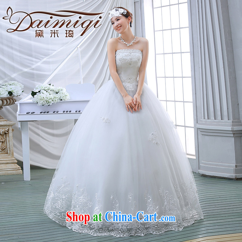 wedding dresses spring 2015 new Korean brides with Princess lace shaggy light drill video thin smears chest wedding white M