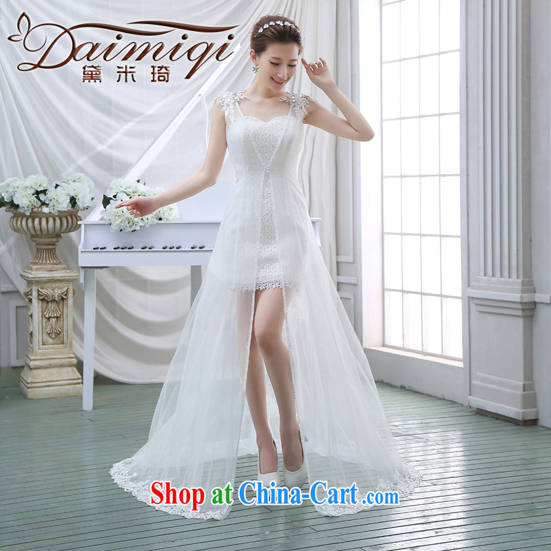 Show go show wedding dresses 2014 new stylish Korean winter two-piece package and small dress the dress white M