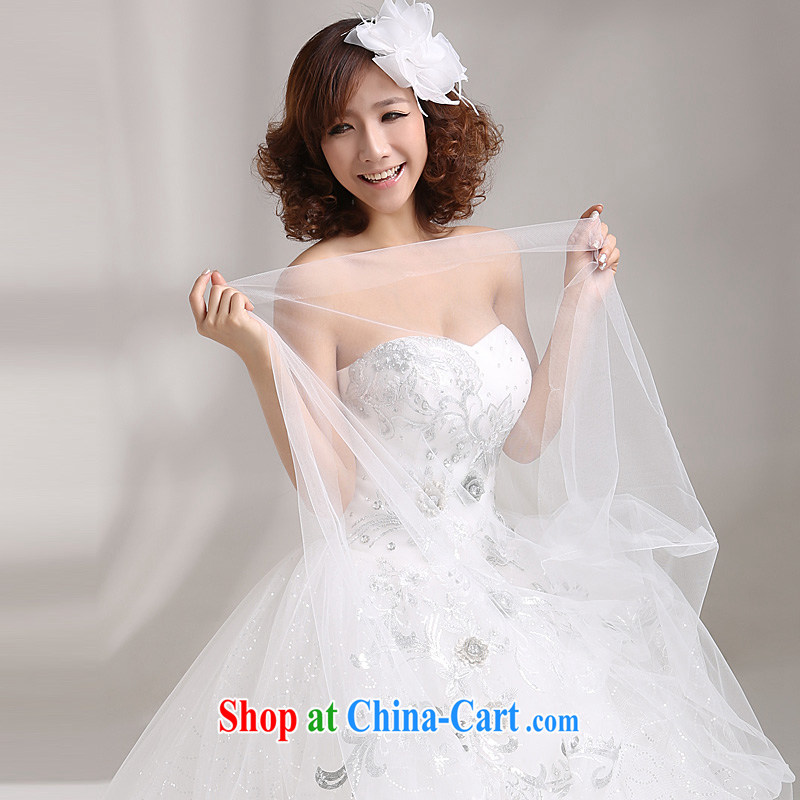 wedding dresses new 2015 Korean sweet princess, flowers Korean water drilling wiped his chest, wedding white white the other code 20