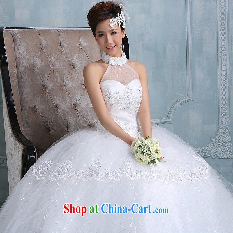 Ho full Chamber wedding dresses 2015 new Korean wood drill with sweet Princess short summer field shoulder white white XL