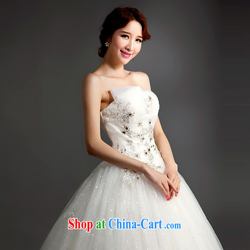 Ho full Chamber wedding dresses new 2015 diamond stylish lace-tie-off bride chest with custom wedding white XL