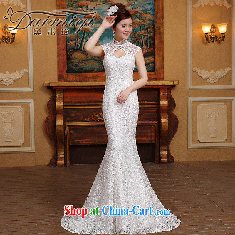 Summer 2015 new Korean-style, Mary Magdalene for chest package shoulder lace back exposed video thin beauty package and crowsfoot and wedding dresses white M