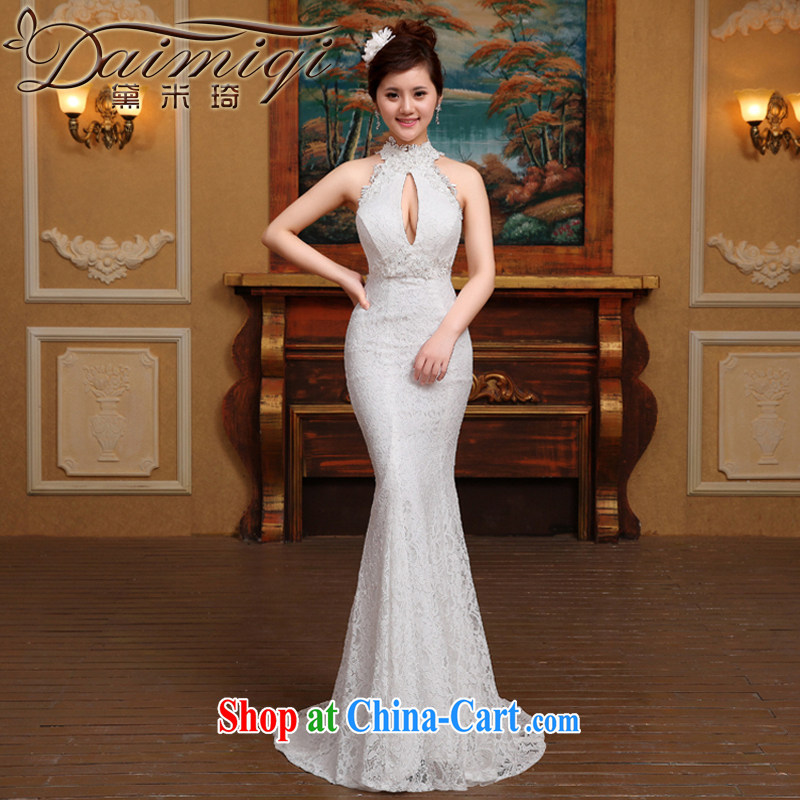 wedding dresses 2015 new lace hangs also received back at Merlion wedding beauty, white M