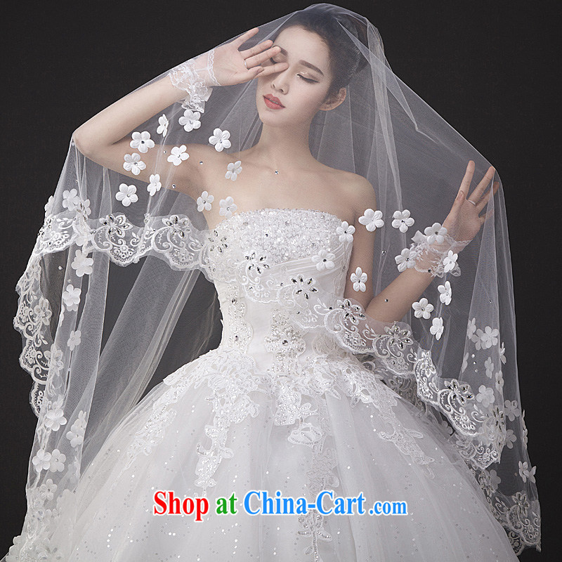wedding dresses new 2015 spring lace, tied with cultivating graphics thin with shaggy dress Mary Magdalene marriage chest white XL