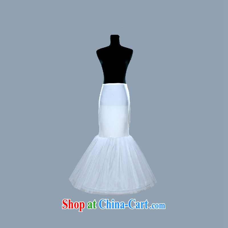 Elegant DressilyMe crowsfoot wedding petticoat with elastic - White - 5 day shipping