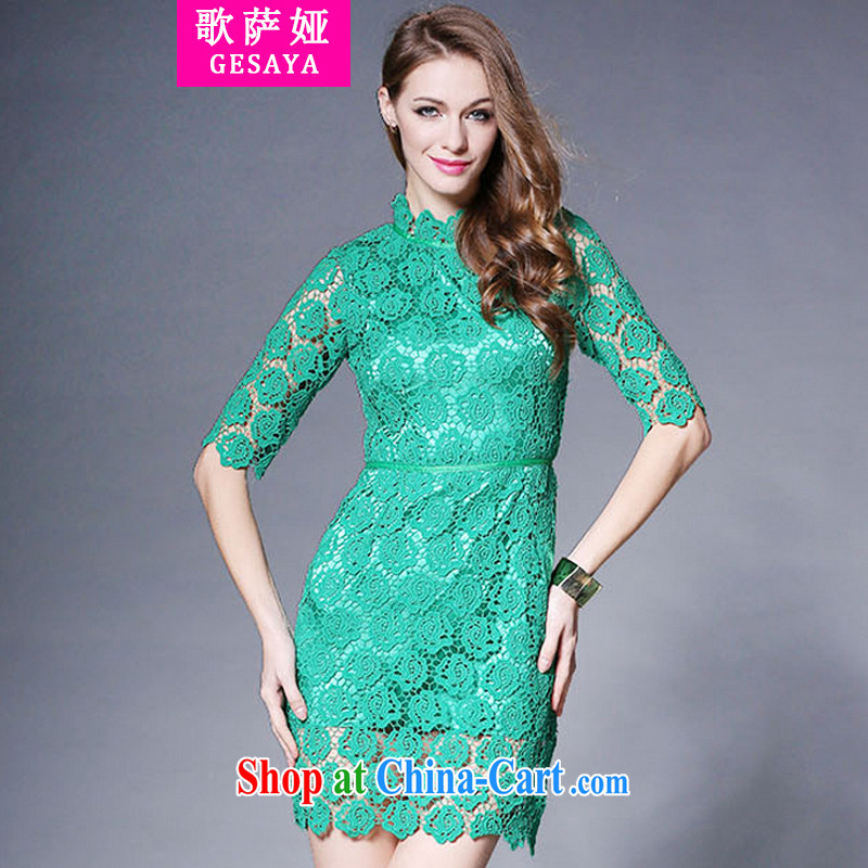 Song, Julia 2015 red dress lace wedding dresses spring and summer are decorated in style bridal Back Door Service green XL