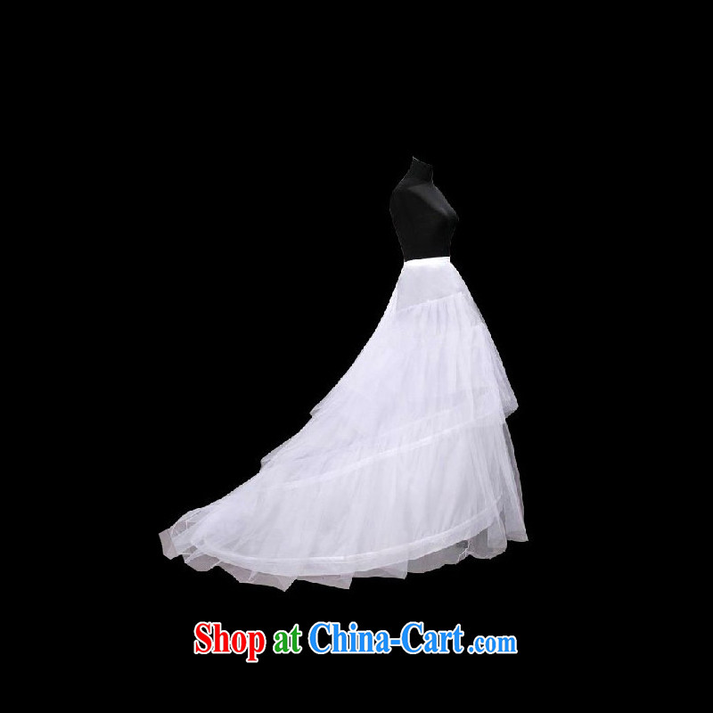 DressilyMe temperament, drag and drop the tail wedding petticoat with elastic - White - 5 day shipping