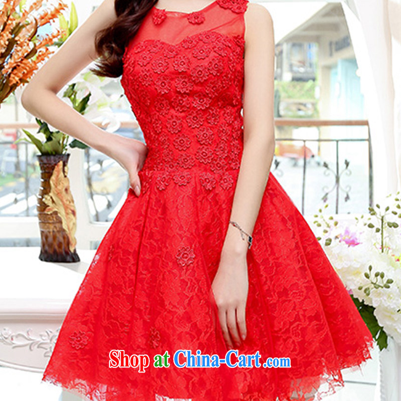 2015 new Korean Beauty Fashion Round collar sleeveless shaggy dress skirt 4 season long wedding dress dresses red M charm, as well as Asia and (Charm Bali), online shopping