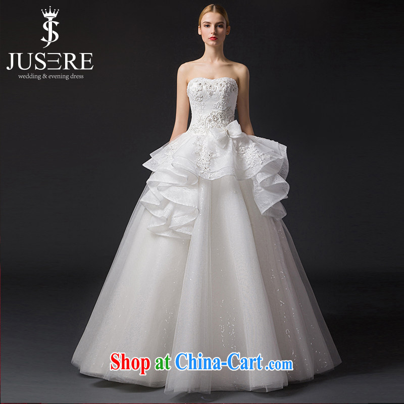 It is not the JUSERE high-end wedding dresses 2015 new, Japan, and South Korea wedding bridal marriage wiped chest flouncing Princess dress with white tailored