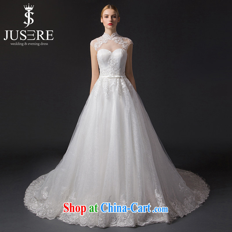 It is the JUSERE high-end wedding dresses 2015 new Korean-style smears chest Openwork package shoulder dresses for brides wedding dress with wedding small trailing white tailored